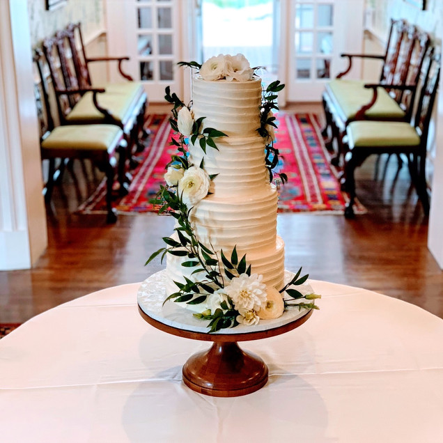 Swirl 4 tiered Wedding Cake