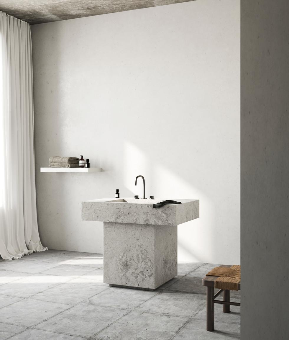 / Minimal bathroom /