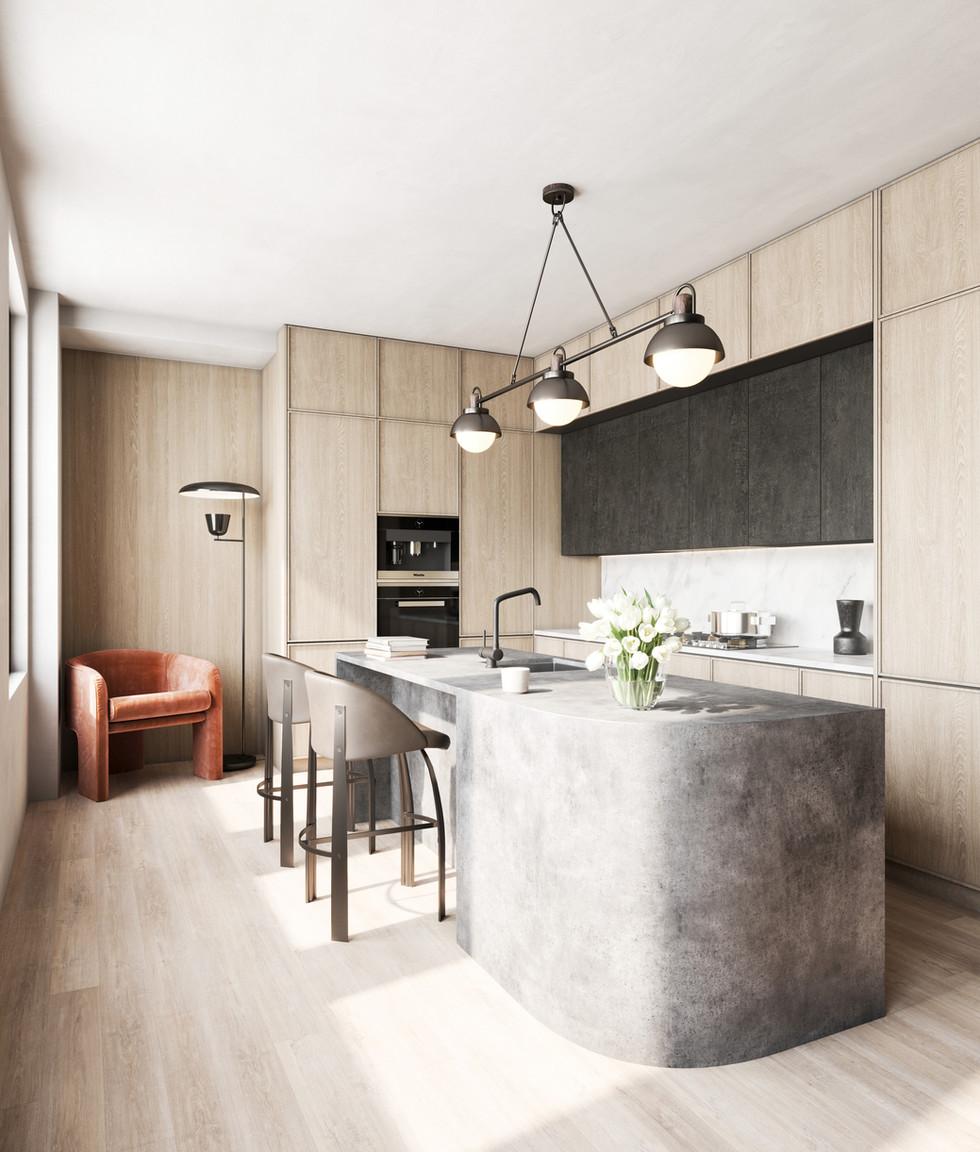 / Modern kitchen /