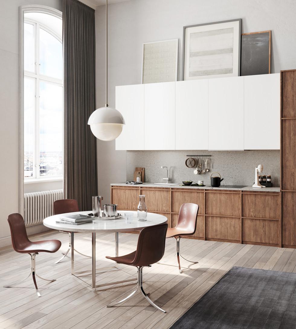 / Stylish scandinavian kitchen /