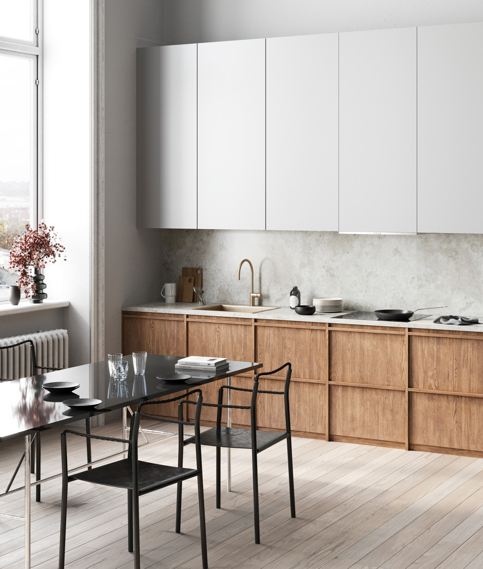/ Scandinavian kitchen /