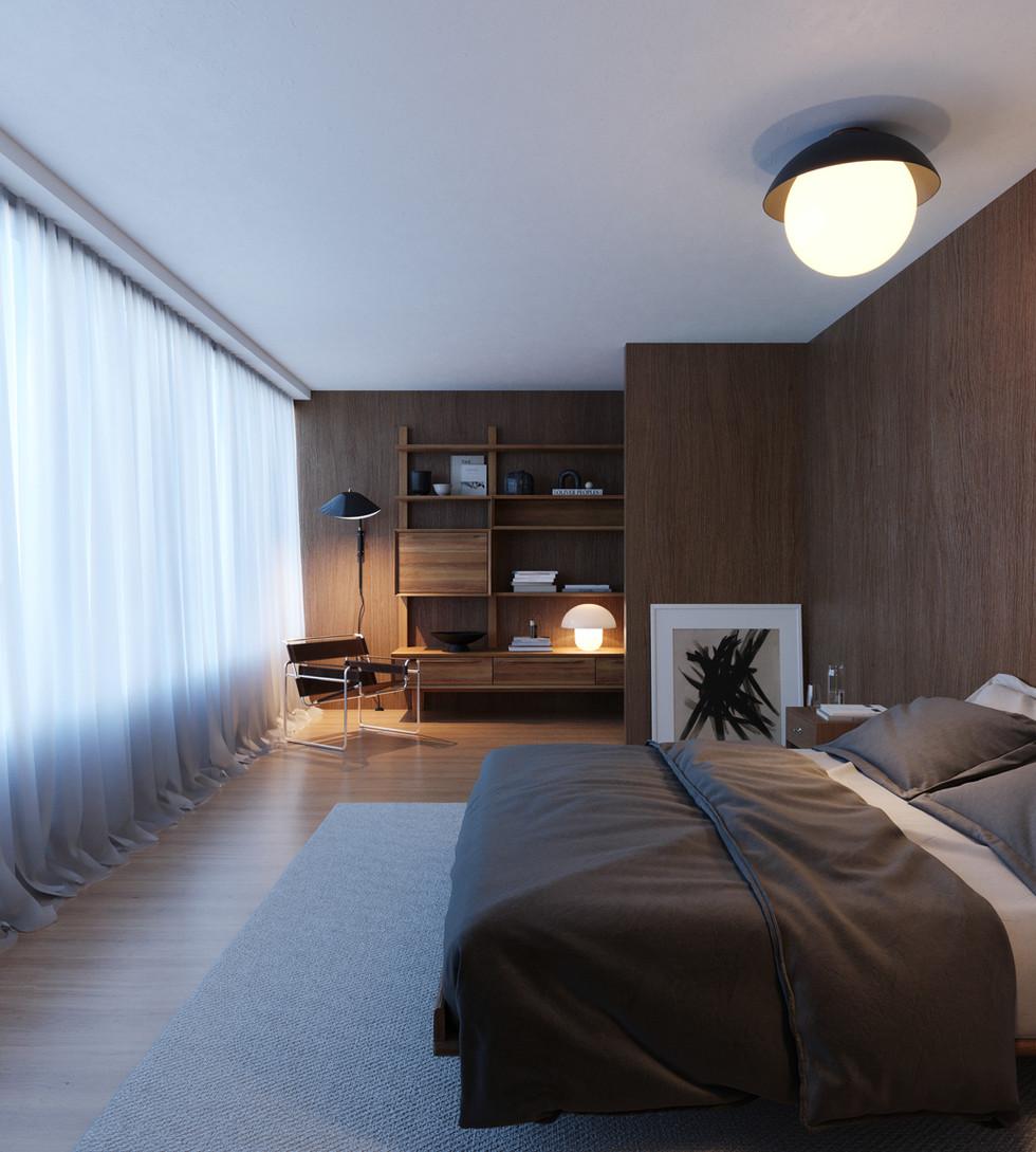 / Wood bedroom /