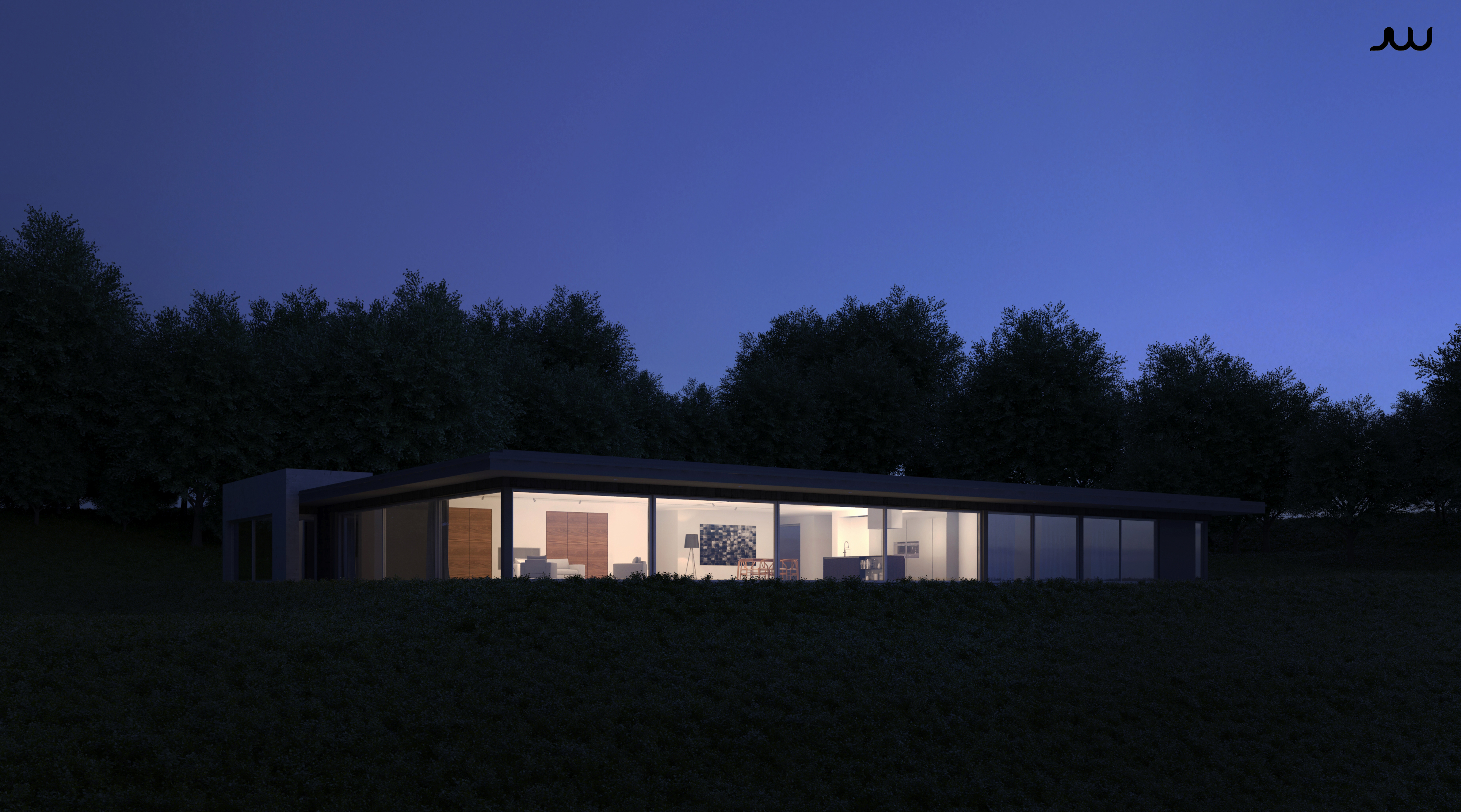 / House at dusk /
