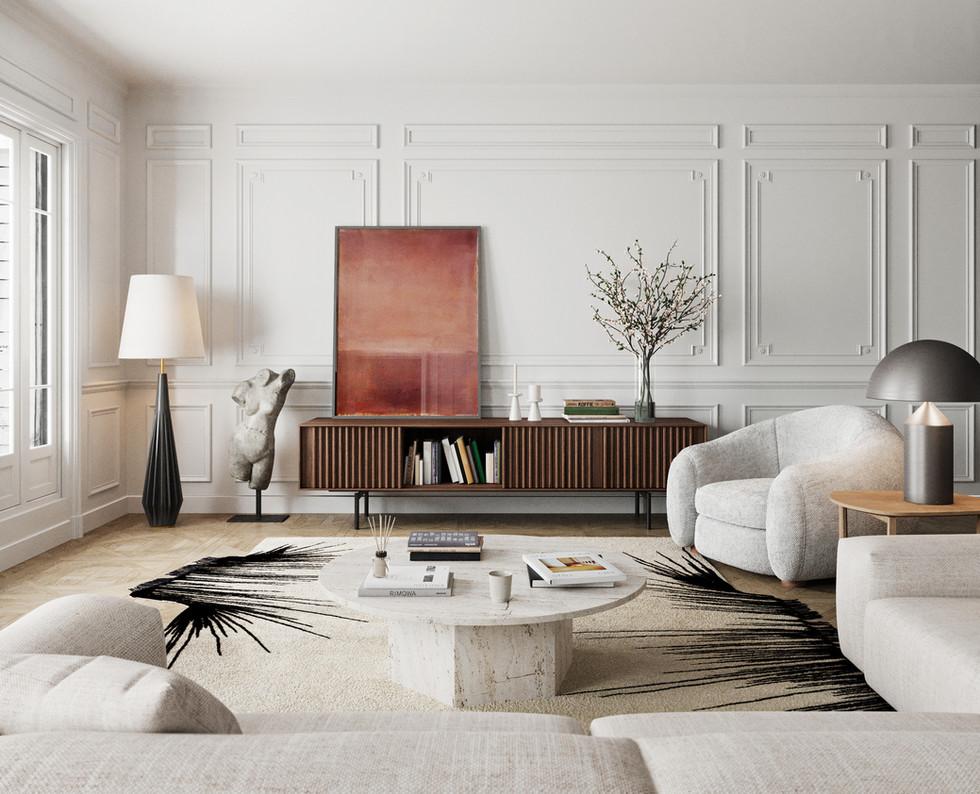 / Interior parissian living /