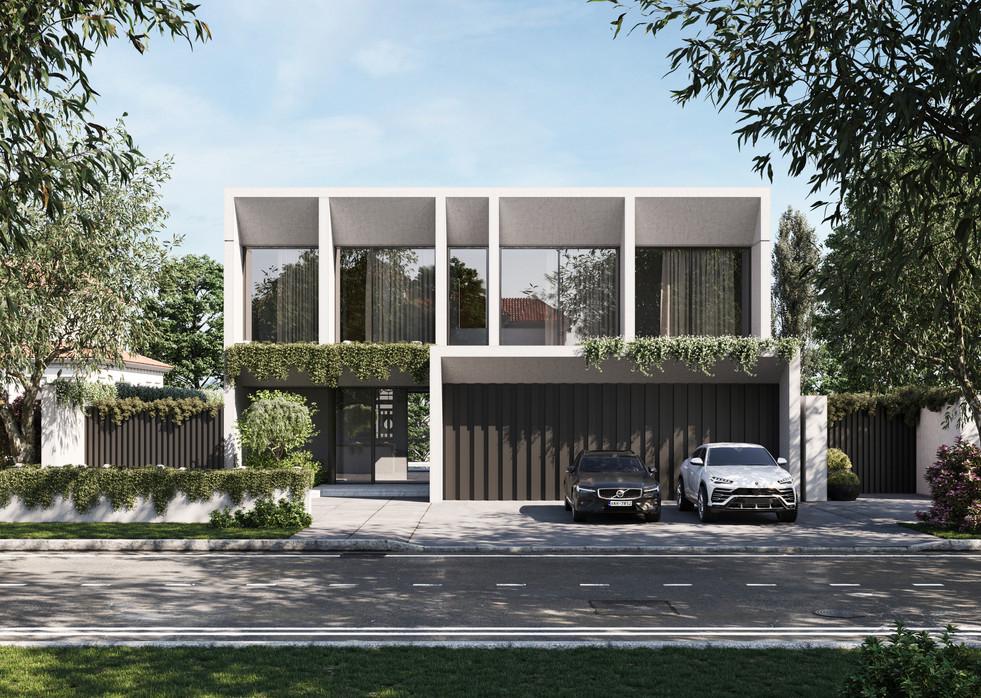 / Modern house facade /