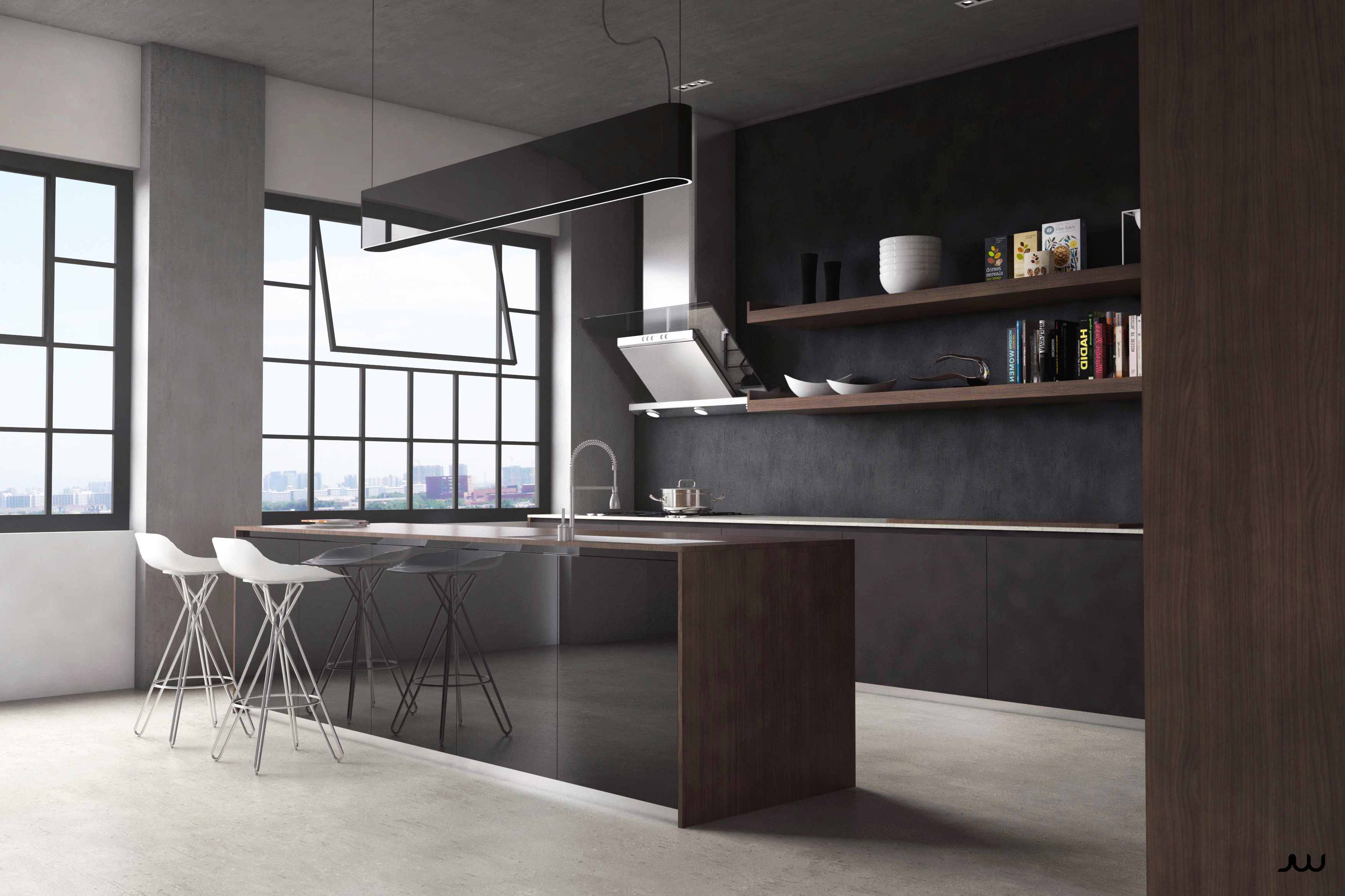 / Modern Kitchen at Loft /