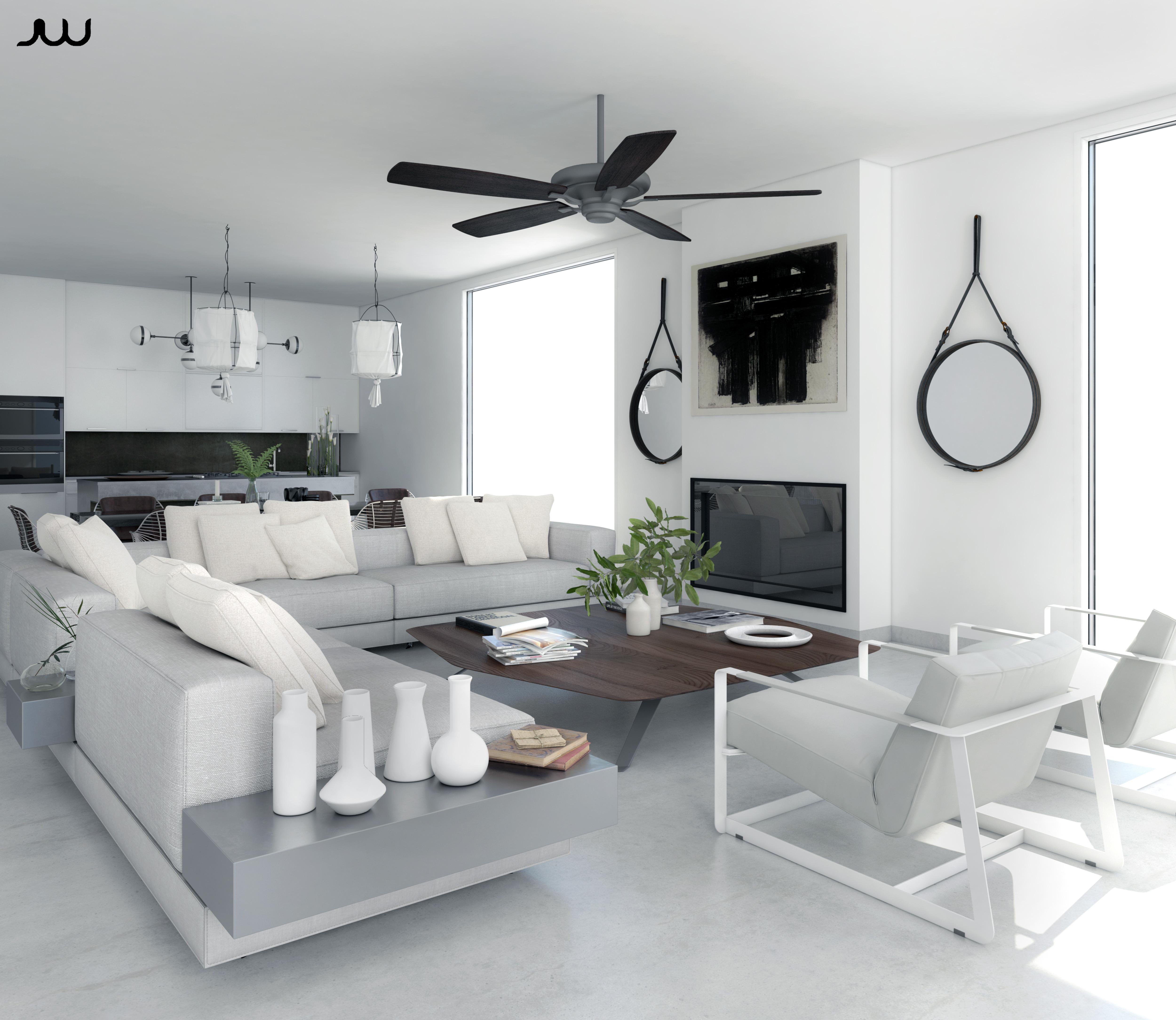 / Interior Limpio y blanco /