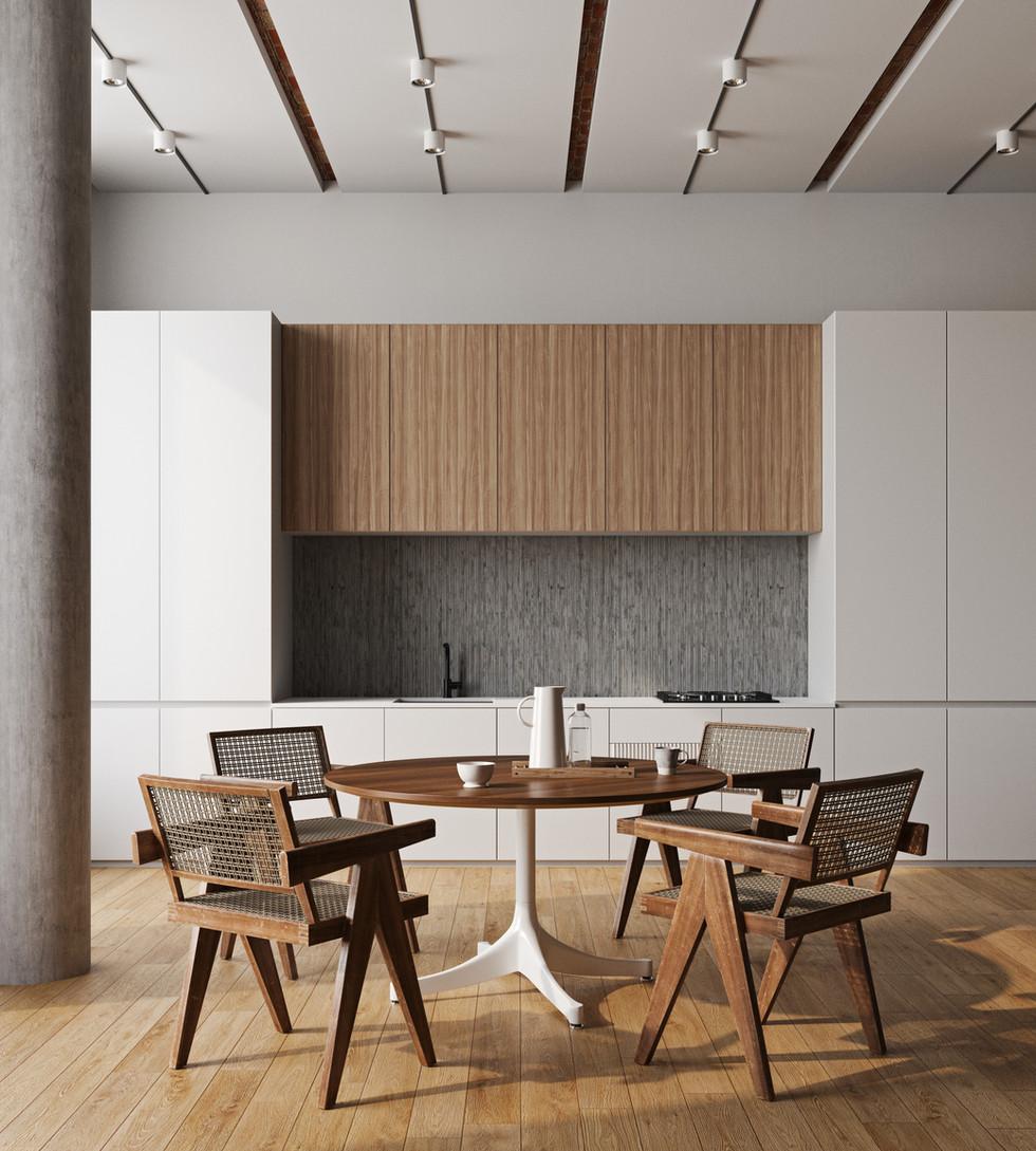 / Modern and minimal interior kitchen /