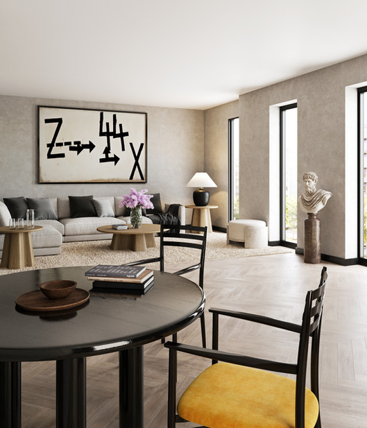 / Interior Dining and Living room /