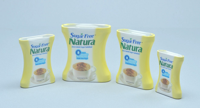 Sugar Free Natura containers