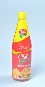 Tops Snack Sauce bottle