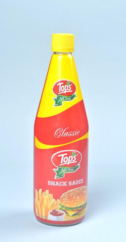 Tops Snack Sauce bottle