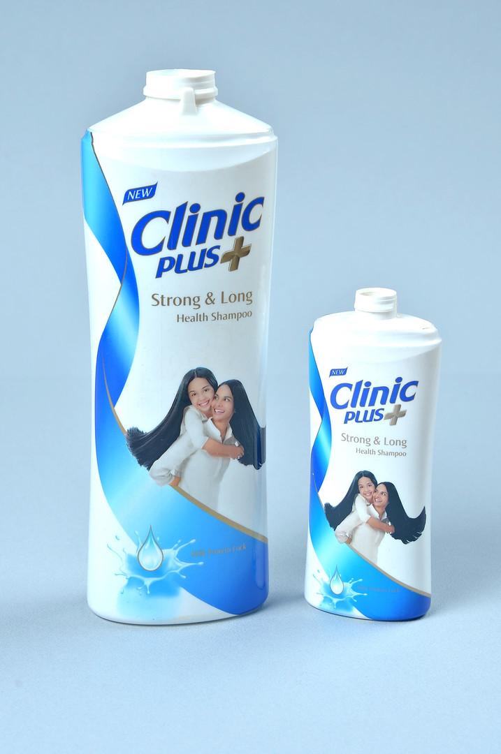 Clinic Plus shampoo bottles
