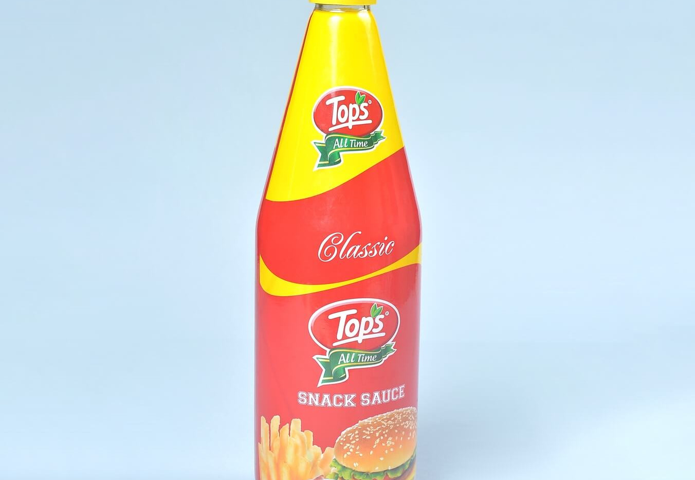 Tops Snack Sauce shrink sleeved bottle