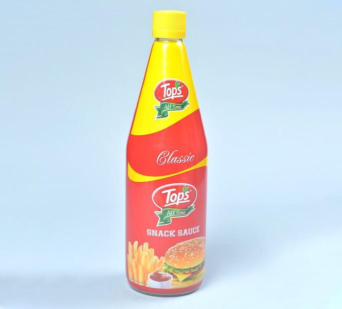 Tops Snack Sauce shrink sleeved bottle