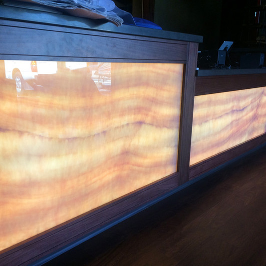 Faux Honey Onyx Panels