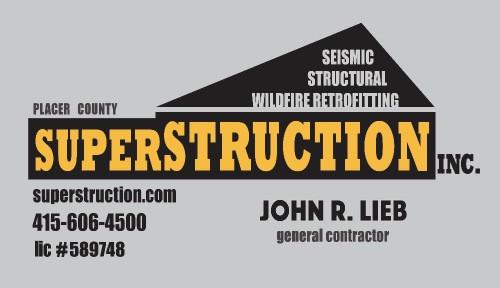 Superstruction, Inc Business card