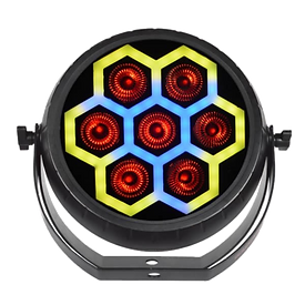 Unique and vibrant, the new RADIANT PAR TRON7 delivers eye catching light shows. Controls include DMX and sound active.   MAP: $249.99