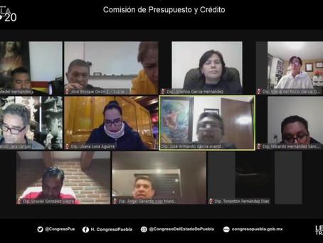 Aprueban en Comisión  Legislatura, proyecto de dictamen de la Ley de Egresos del Estado de Puebla