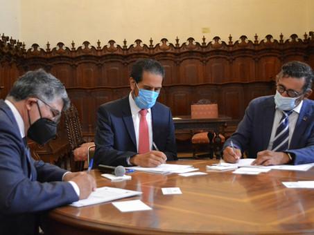 Firman convenio de colaboración BUAP y Canacintra para impulsar el talento emprendedor