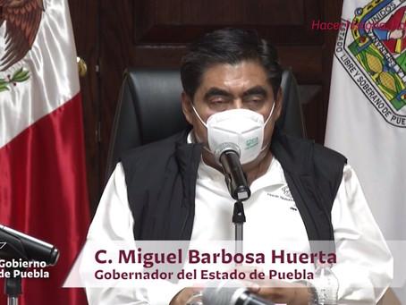 Firma decreto Gobernador Miguel Barbosa para prohibir venta de alcohol durante contingencia #COVID19