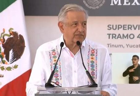 """""""Un tren de alta tecnología, eléctrico que no va a contaminar"""": AMLO adelanta detalles del Tren Maya"""