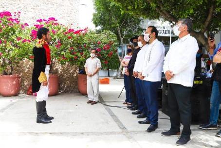 Presentan monólogo de pasajes históricos de Vicente Guerrero por Bicentenario del Plan de Iguala