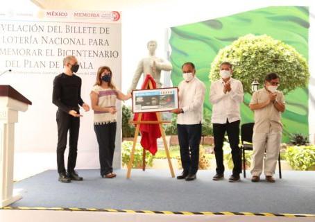 Emite Lotería Nacional billete conmemorativo al Bicentenario del Plan de Iguala