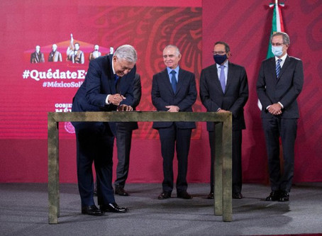 López Obrador y empresarios anunciaron un plan de inversión de más de 297,000 millones