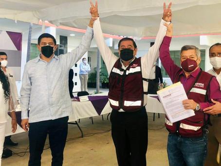 Salgado Macedonio se registró como candidato al Gob. de Guerrero por Morena: hay protestas en CDMX