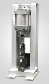 prasa pneumatyczna z wykrojnikiem do wycinania otworów w profilach aluminiowych