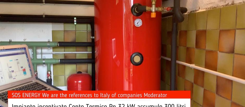 Caldaia da 32 kW con accumulo da 300 litri accede al Conto Termico