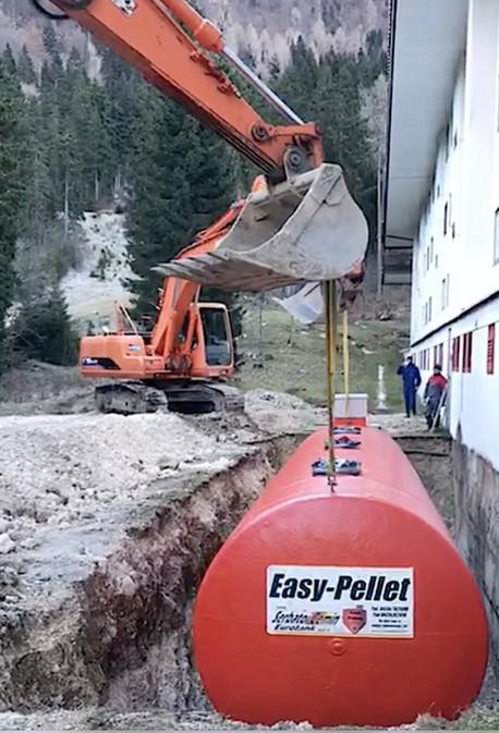 Serbatoio pellet 40 m3 utili