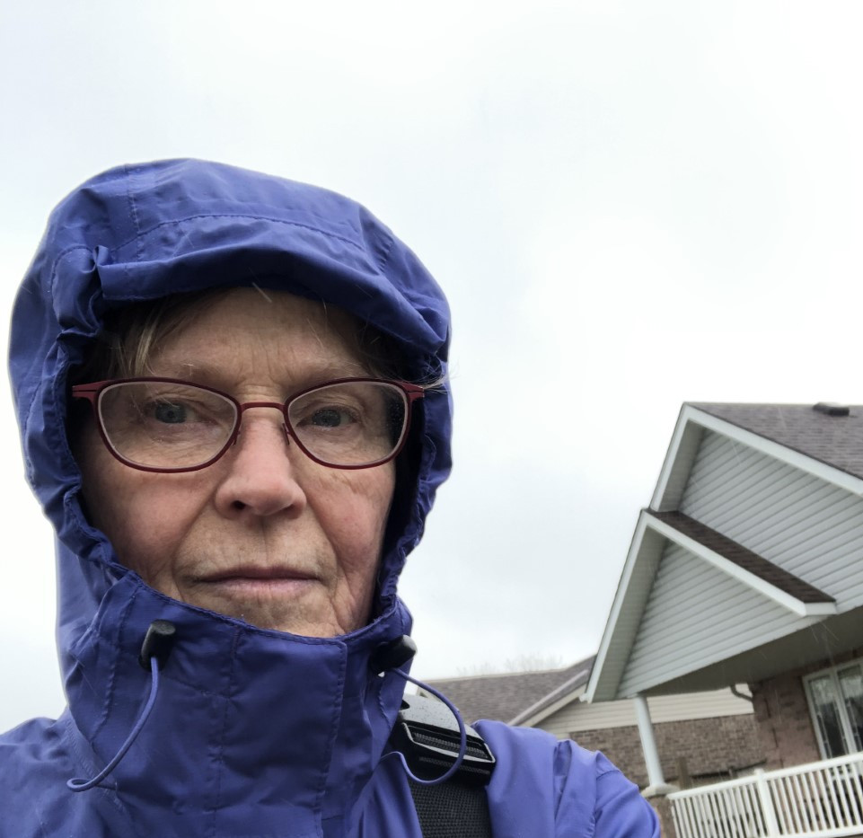 Even rainy days couldn't stop Jane from hiking!
