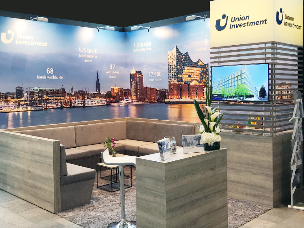 Messestand Union Investment IHIF Berlin 2019