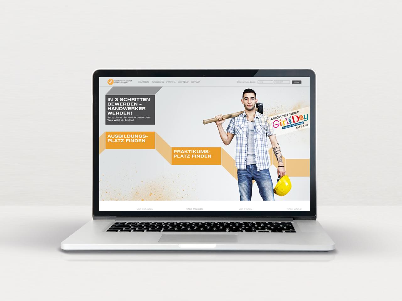 Kreishandwerkerschaft Paderborn-Lippe Website