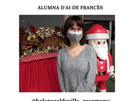 Helena Trinidad Soldevilla, alumna d'A1 de francès, guanyadora del sorteig d'un xec regal (Abacus).