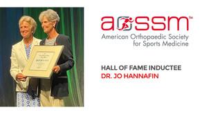Congratulations Dr. Jo Hannafin, AOSSM Hall of Fame Inductee
