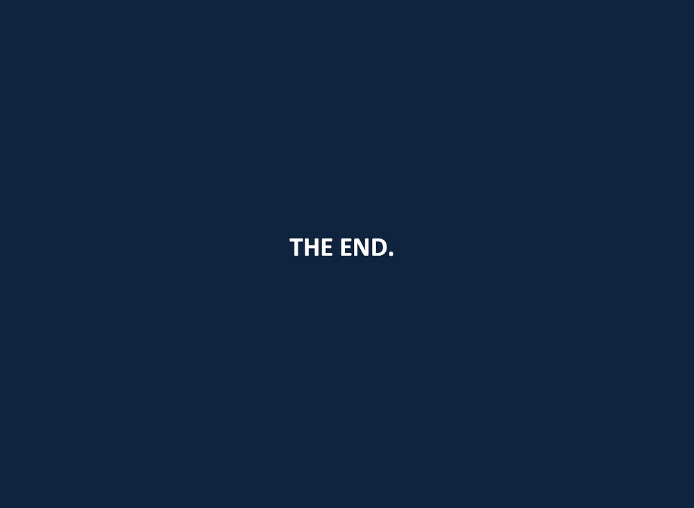 The words: THE END.