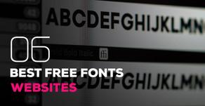 06 Best Free Fonts Websites