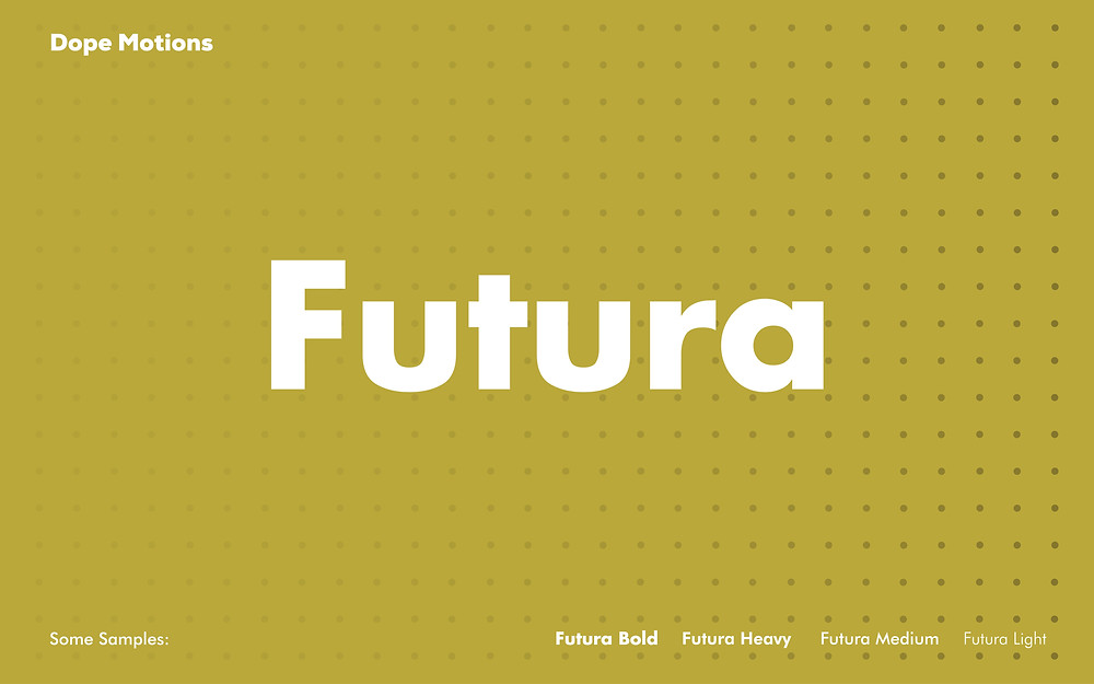Futura Fonts for Titles by DopeMotions