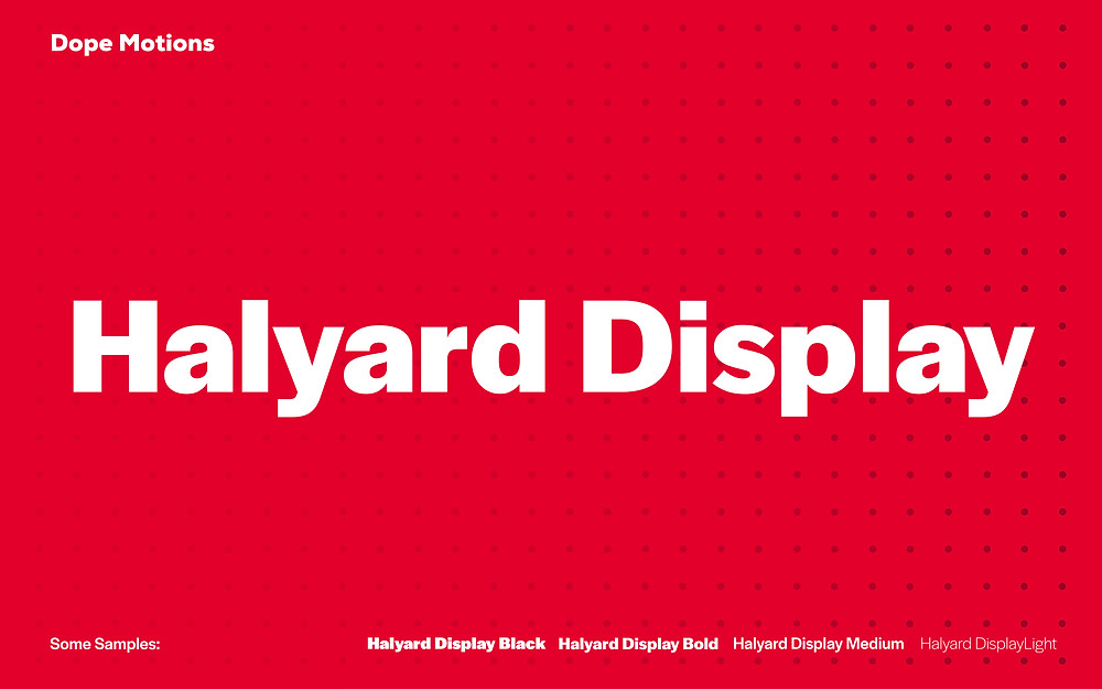 Halyard Display Fonts for Titles by DopeMotions