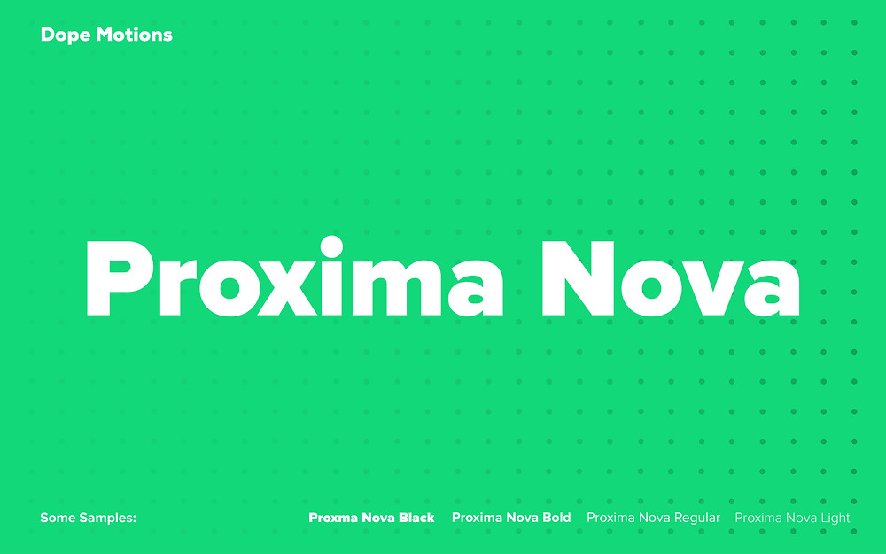 Proxima Nova Fonts for Titles by DopeMotions