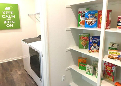 Laundry with pantry