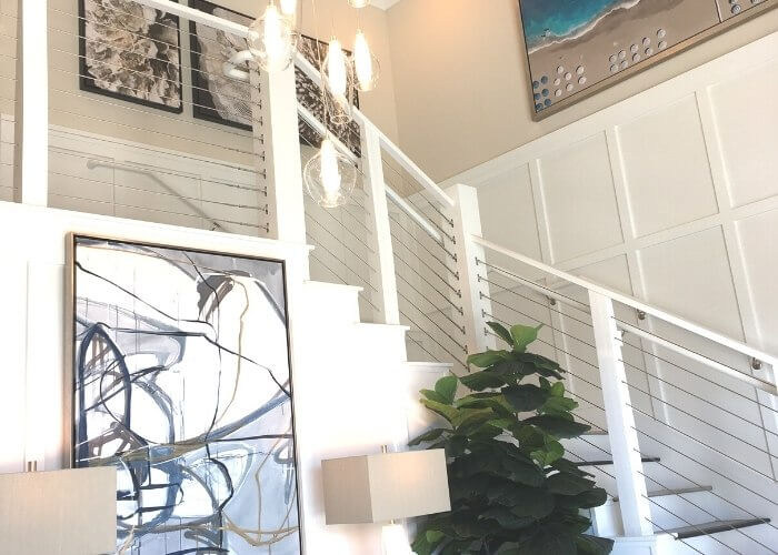 Entrance single level new homes in Carlsbad Carlyle