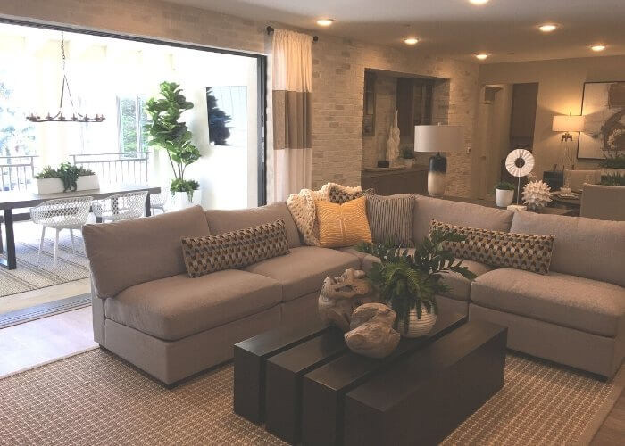 Living - single level new homes in Carlsbad Carlyle