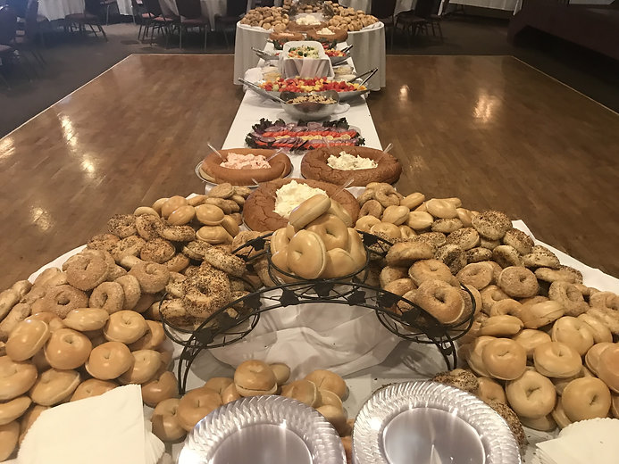 Bagel display for Rabbi Oct 6.JPG