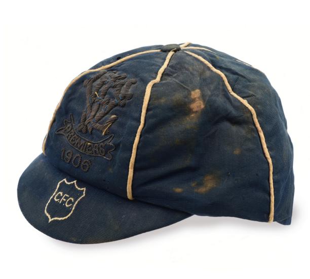 A RARE 1906 CARLTON PREMIERSHIP CAP