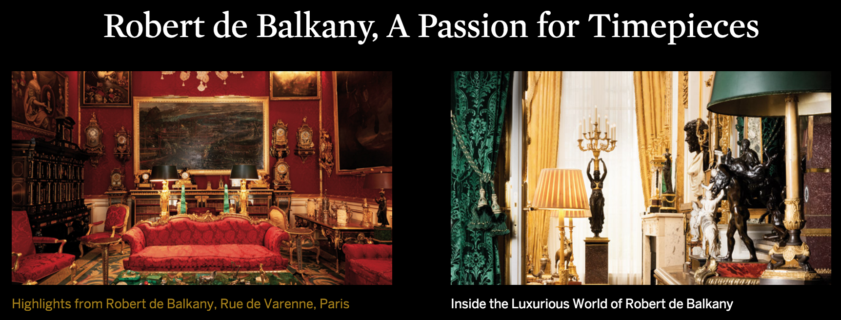Highlights from Robert de Balkany