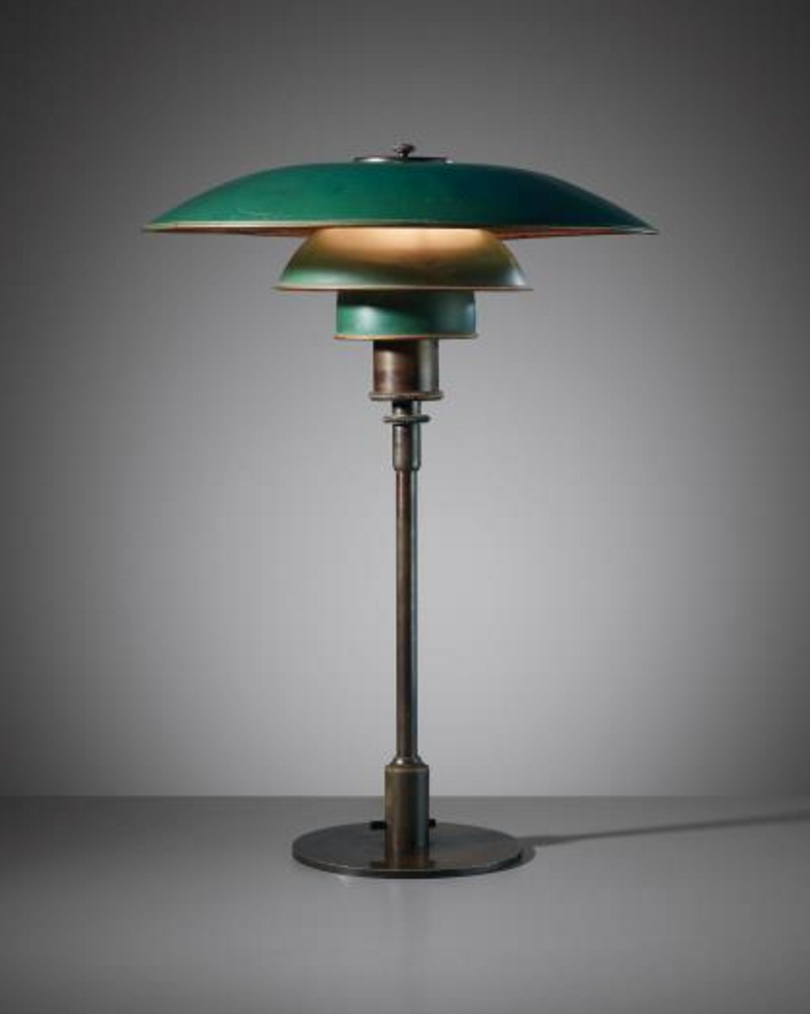 POUL HENNINGSEN Early desk lamp, type 4/3 shades